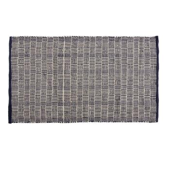 "The Grainhouse™ 27""x45"" Dark Blue Checkered Accent Rug"