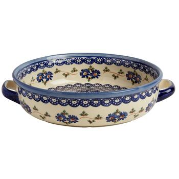 Polish Pottery Floral Chain Fruit Bowl