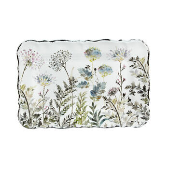 The Grainhouse™ Fern Floral Rectangular Melamine Serving Tray view 2