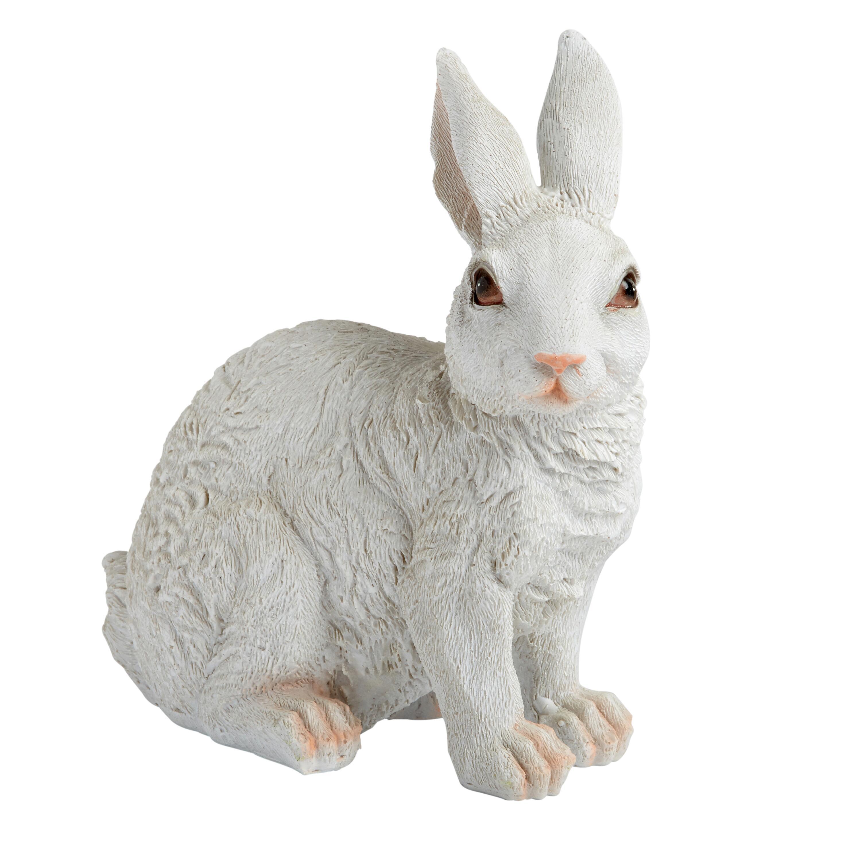 9u201d White Bunny Garden Decor