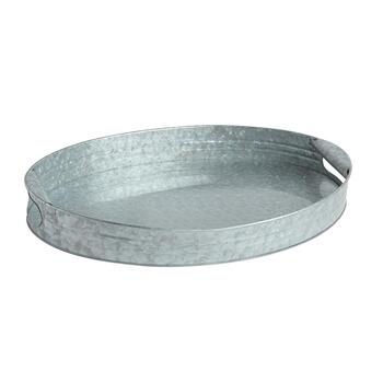 Weathered Oval Metal Tray