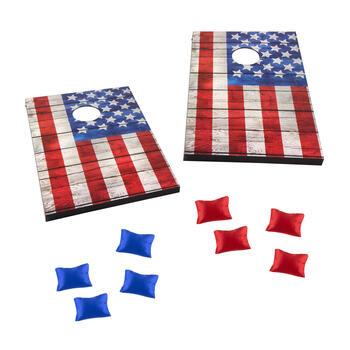 American Flag Bean Bag Toss Lawn Game view 1