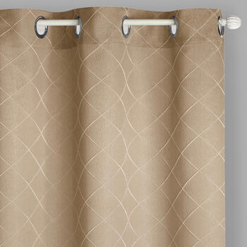 "84"" Diamond Jacquard Grommet Top Window Curtains, Set of 2 view 1"