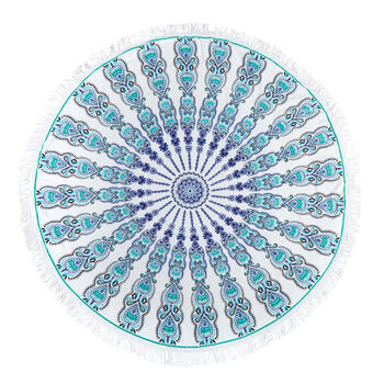 "60"" Gypsy Fringe Round Cotton Tapestry Throw view 1"