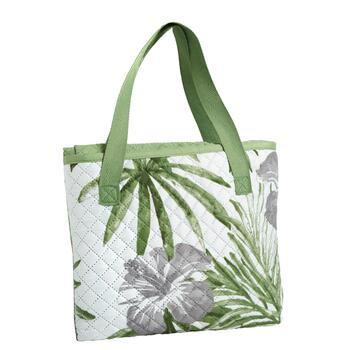 Oversized Palm Leaves Beach Blanket and Tote view 2
