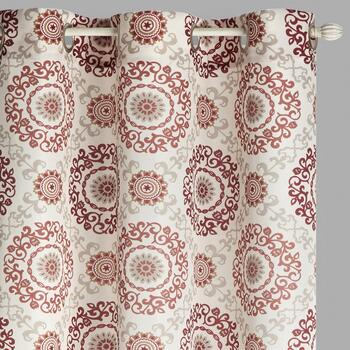 "84"" Crawford Madani Grommet Window Curtains, Set of 2"