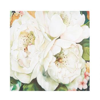 "30"" Three Flowers Canvas Wall Art"