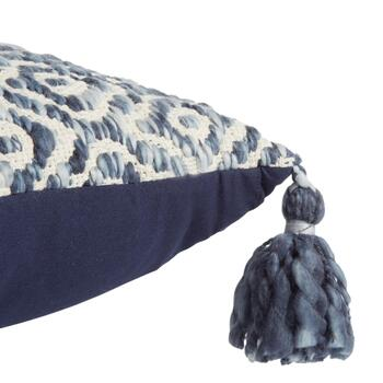 The Grainhouse™ Blue Diamond Tassel Square Throw Pillow view 2 view 3