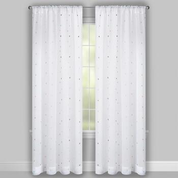 Nanni Embroidered Polka Dot Window Curtains, Set of 2 view 2