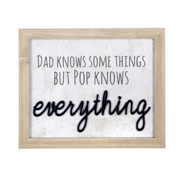 "14""x17"" ""Pop Knows Everything"" Framed Wall Decor view 1"