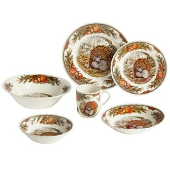 Bountiful Harvest Turkey Dinnerware Collection
