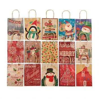 "8"" Country Christmas Assorted Holiday Gift Bags, Set of 4"