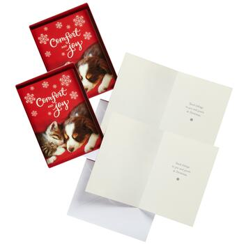 "18-Count ""Comfort and Joy"" Cards, Set of 2"