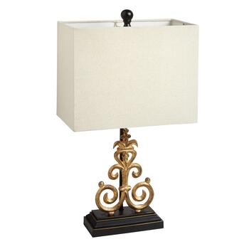 "23.25"" Gold Scroll Metal Table Lamp"