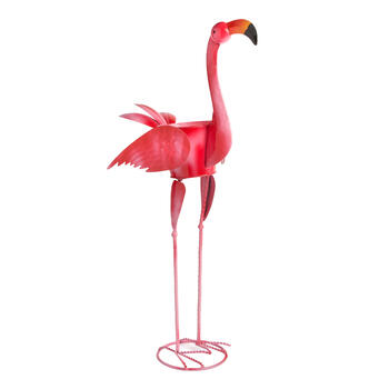 "32.5"" Metal Flamingo Decor view 1"