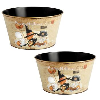 """Happy Halloween"" Candy Buckets, Set of 2"