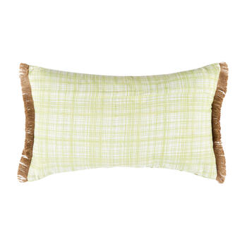 Bunny in the Garden Oblong Throw Pillow with Fringe view 2