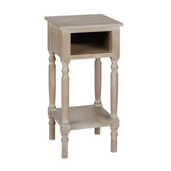 Antique Accent Table with USB Charging Ports view 1