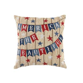 """America the Beautiful"" Square Throw Pillow"