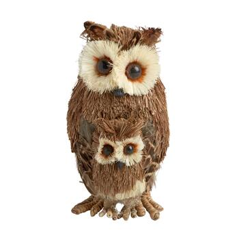 "7"" Owl and Baby Standing Decor"