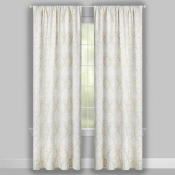 Ivy Scroll Rod Pocket Window Curtains, Set of 2 view 2