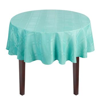 Solid Microfiber Checkered Tablecloth view 2