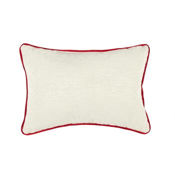 Holiday Stockings Embellished Cotton Blend Oblong Throw Pillow view 2