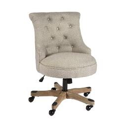Tufted-Back Rolling Office Chair