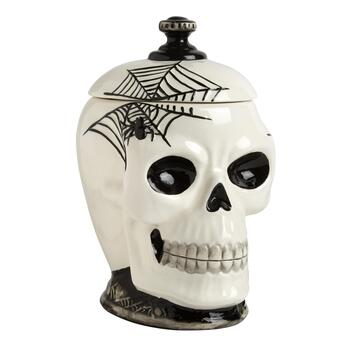 Black & White Skull Cookie Jar