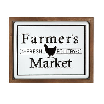 "13""x17"" ""Farmer's Market"" Framed Metal Sign Wall Decor view 1"