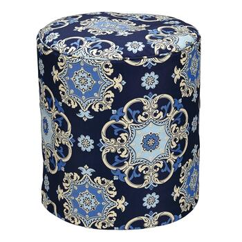 Waverly® Damask Indoor/Outdoor Square Ottoman