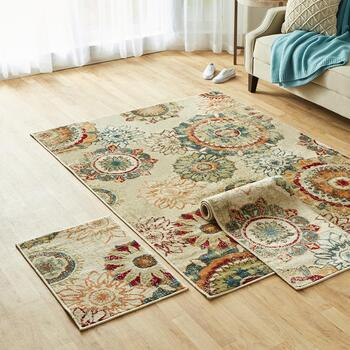 3-Piece Printed Rug Sets