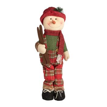 "24"" Standing Snowman Decor with Red Shoes"