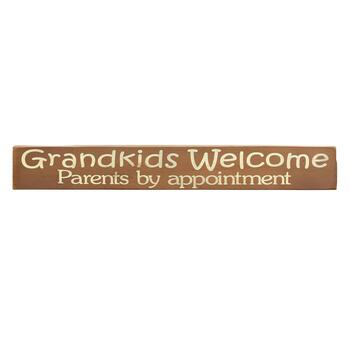 "24"" ""Grandkids Welcome"" Wood Wall Sign"