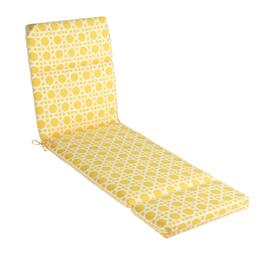 Yellow Cane Indoor/Outdoor Hinged Chaise Chair Pad