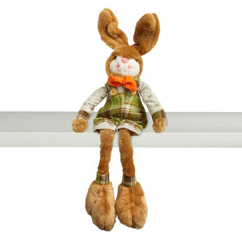 "28"" Plush Big Feet Bunny Boy Ledge Sitter view 1"