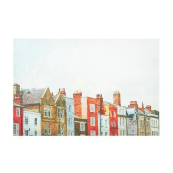 "24""x36"" Colorful Houses Canvas Wall Art"