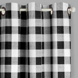 "108"" Buffalo Check Grommet Top Window Curtains, Set of 2 view 1"