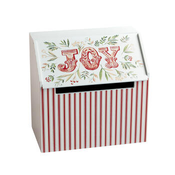 """Joy"" Wood Winter Gear Storage Box view 1"