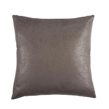 The Grainhouse™ Faux Leather Feather-Fill Square Throw Pillow