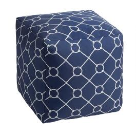 Nautical Knots Indoor/Outdoor Square Ottoman