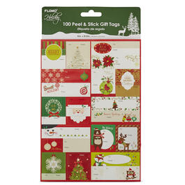 100 Peel & Stick Christmas Gift Tags view 1