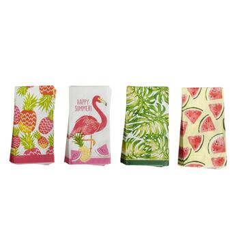 20-Count Assorted Tropical Paper Napkins, Set of 4