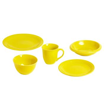 Bistro Brights Yellow Dinnerware Collection, Sets of 4