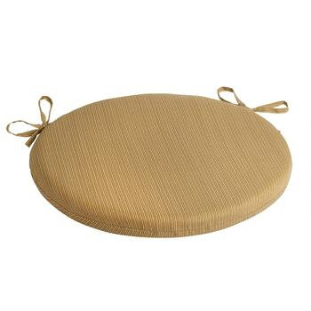 Solid Brown Indoor/Outdoor Round Bistro Seat Pad