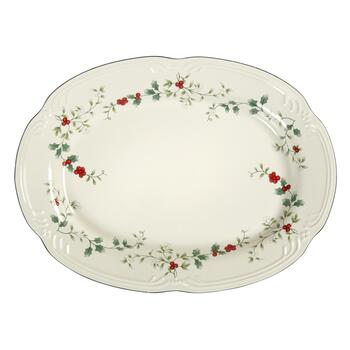 Famous Maker Winterberry Oval Serving Platter