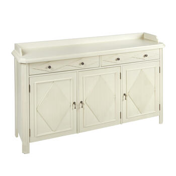2-Drawer/3-Door Tambour-Style Sideboard view 1