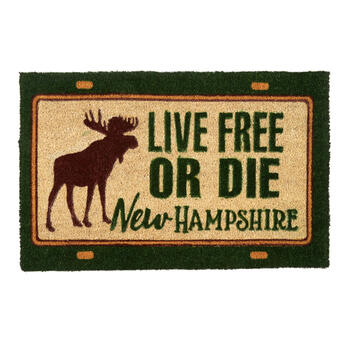 Live Free Or Die New Hampshire License Plate Coir Door