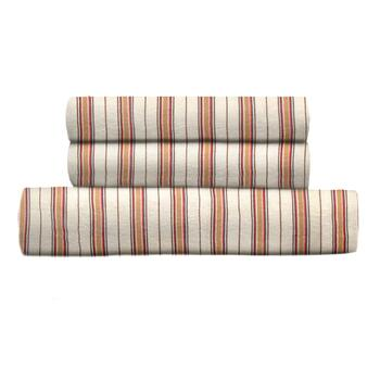 Sunbeam® Full/Queen Beige Stripe Flannel Cover Set
