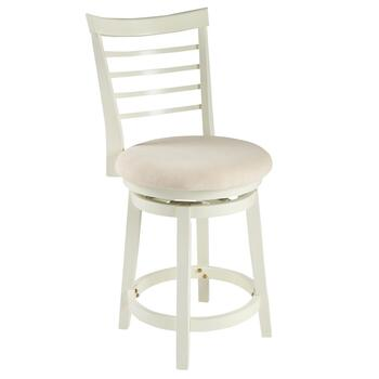 Harbour White Upholstered Barstool